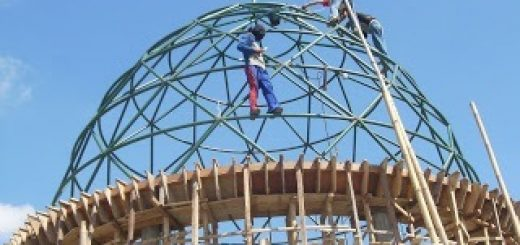 pasang, kerangka, kubah, truss, kremona, monocoq, portal, full welding, silang-silang, pipa, berat, konstruksi, atap, masjid