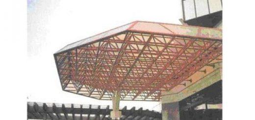 space frame, canopy, konstruksi, lobby, teras, skylight,