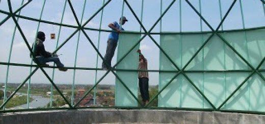 pemasangan, kedap air, kedap suara, kubah, atap, tahan panas, membran, plywood, polycarbonate, skylight