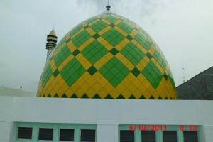 kubah, kubah masjid, contoh kubah, desain, enamel