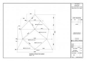 struktur, pipa, kubah, truss