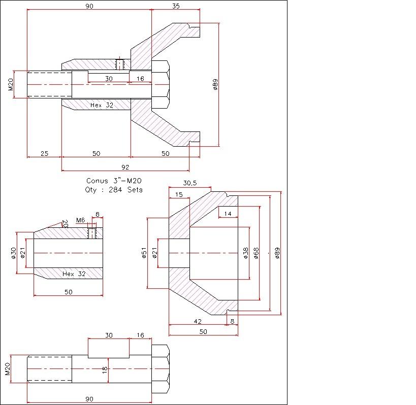 Detail Conus Sistem Hexagone Space Frame Cv Intisari