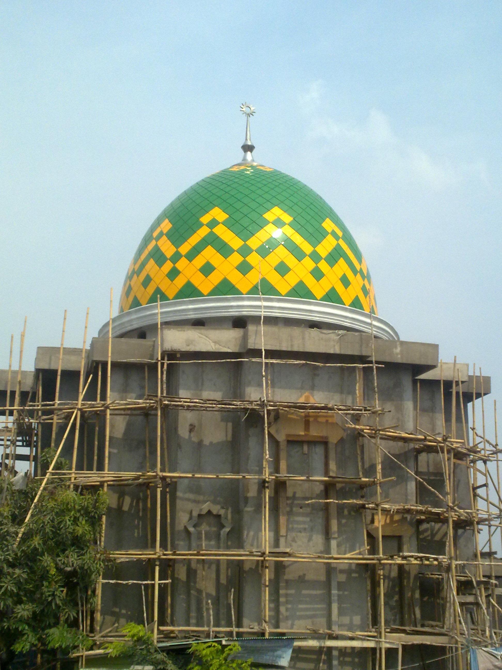 một ví dụ về mái vòm của nhà thờ Hồi giáo trong một nhà thờ Hồi giáo nhỏ ở vùng Kalimantan